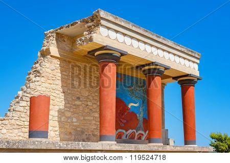Palace Of Knossos. Crete, Greece