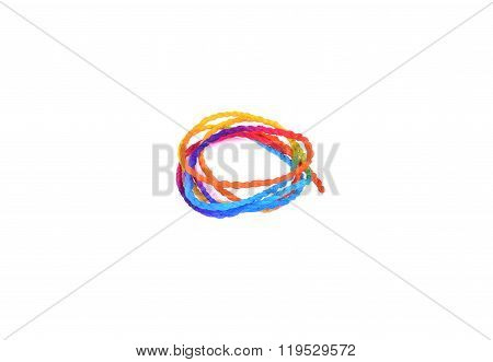 Paper Rope On A White Background