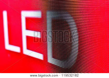 Red Led Sign At The Led Smd Screen