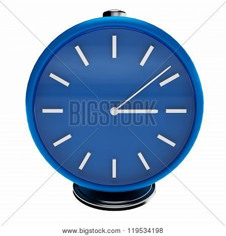 3d simply blue clock