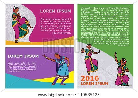 Vector Indian Dancers Poster Template
