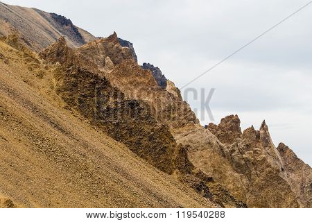 Rocky Spires And Scree On Skookum Volcano