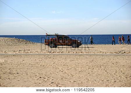 Lifeguard Patrol on the beach