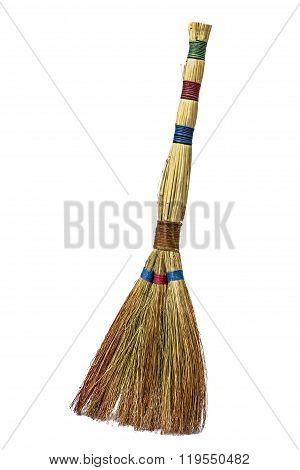 Besom, Isolated On White Background