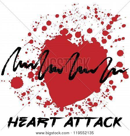 Heart Attack Creative Cardiology Logo