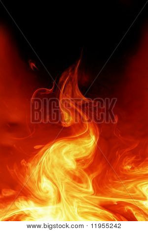Magical fiery background