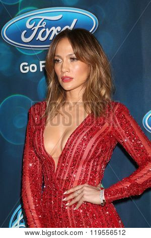 LOS ANGELES - FEB 25:  Jennifer Lopez at the American Idol Farewell Season Finalist Party at the London Hotel on February 25, 2016 in West Hollywood, CA