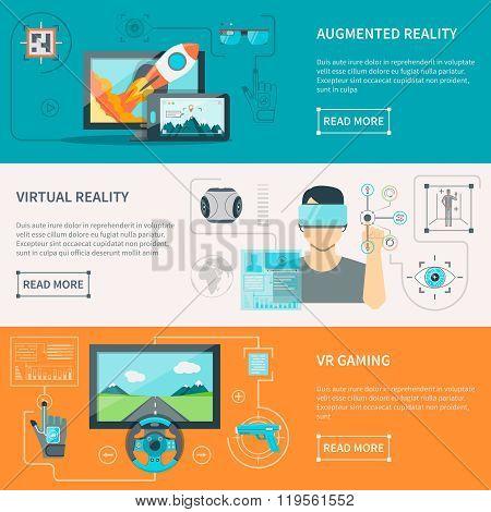 Virtual Augmented Reality Horizontal Banners