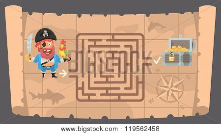 Treasure map and conundrum labyrinth