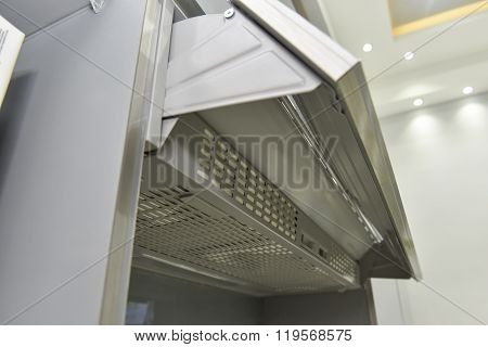 Closeup Of A Cooker Hood Extractor Fan