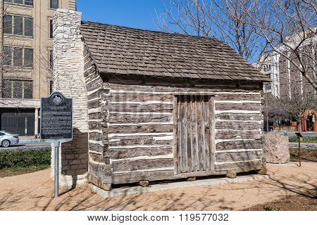 John Neely Bryan Cabin At Pioneer Plaza In Dallas,  Texas