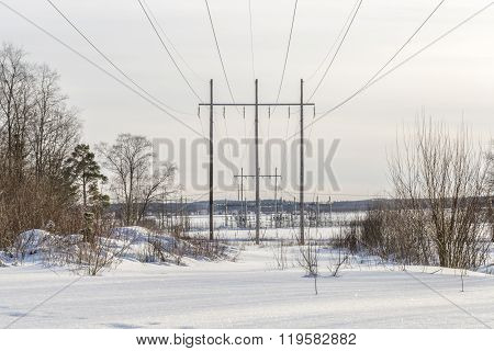 Powerlines With Powerplant