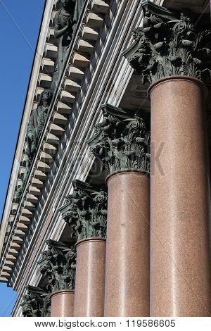 gable portico and columns