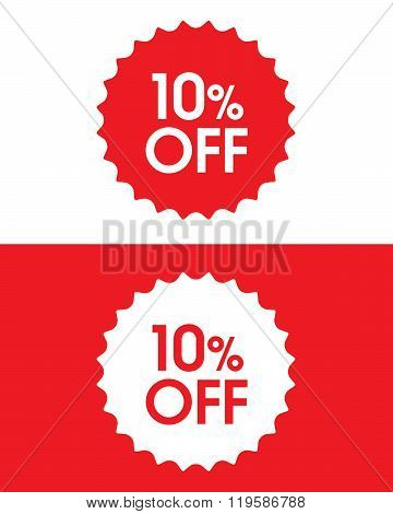 Vector 10% Off Retail Sales Burst