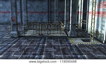industrial space with Elevator and stairs
