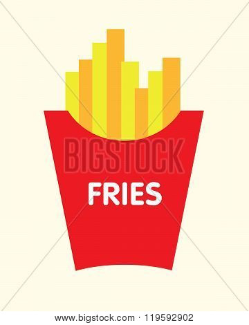 Vector French Fries Graphic
