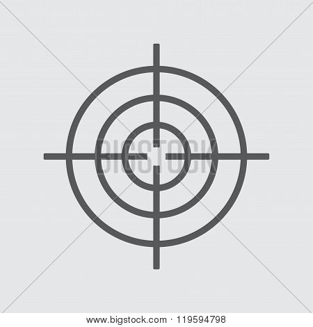 Target icon or symbol. Vector illustration.
