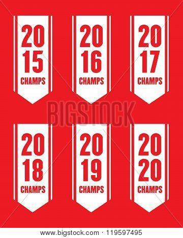 Vector Sports Championship Banner Set