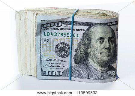 Cash Money Over White