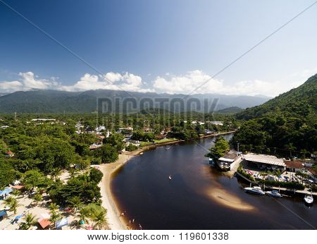 Aerial View of Exotic Landscape in Brazil