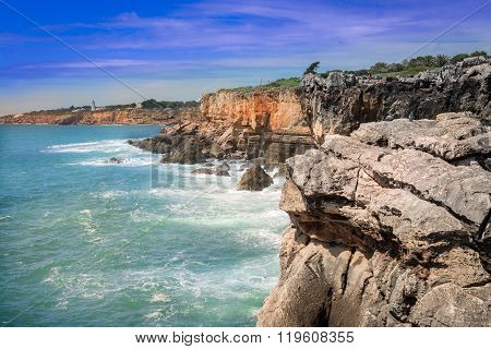 The Hell's Mouth Chasm Located In Cascais.