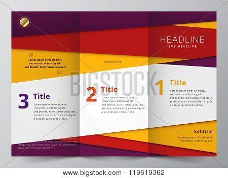 Business Brochure. vector stock.