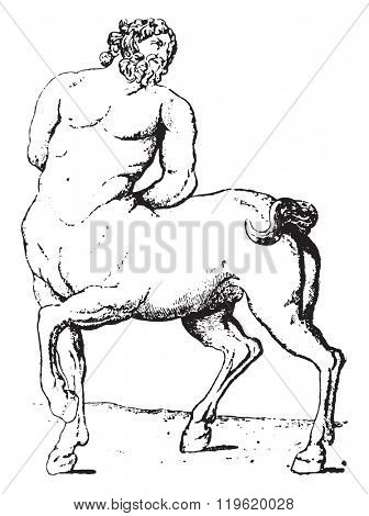 Centaur, vintage engraved illustration. Dictionary of words and things - Larive and Fleury - 1895.