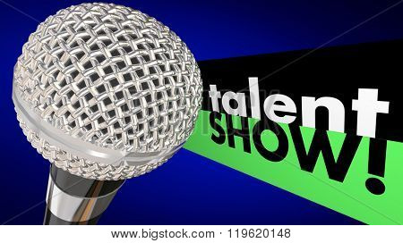 Talent Show Microphone Sing Perform Win Competition