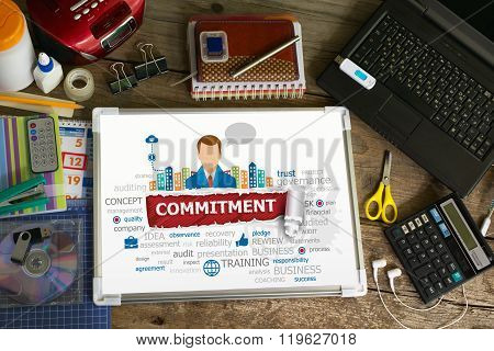 Commitment Word Cloud Design Illustration Concepts For Business, Consulting