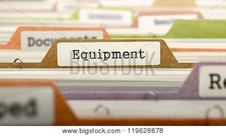 Equipment Concept on File Label.