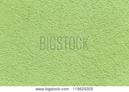 Green Painted Plaster Wall