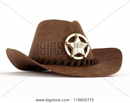 Cowboy Hat With Sheriff Badge