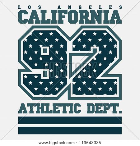 Los Angelis Ca, Fashion Typography, Sport