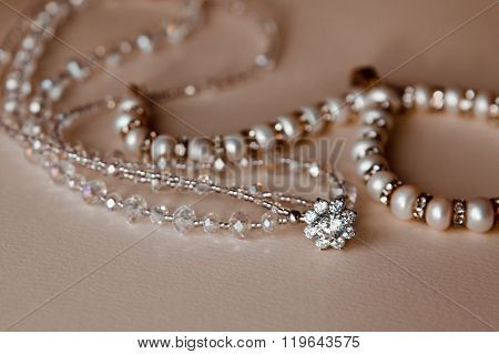 Beautiful White Wedding Decorations On A Light Background