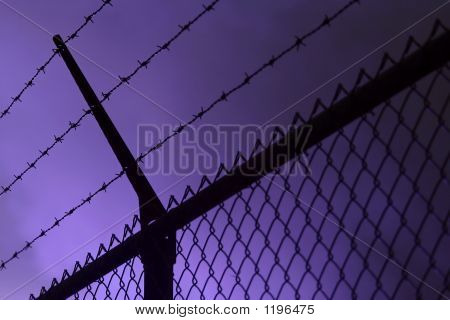 Fence In Smoke