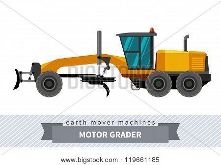 Motor Grader For Earthwork Operations