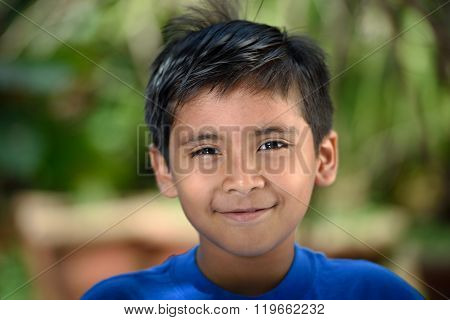 Close Up Of Latino Boy