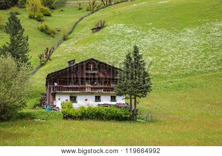 Old Mountain Farm In South Tyrol