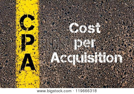 Business Acronym Cpa Cost Per Acquisition