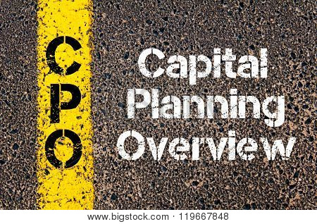 Business Acronym Cpo Capital Planning Overview