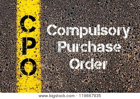 Business Acronym Cpo Compulsory Purchase Order