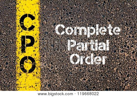 Business Acronym Cpo Complete Partial Order