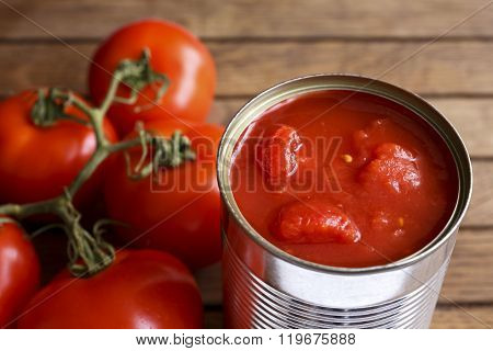 Open Tin Of Chopped Tomatoes.