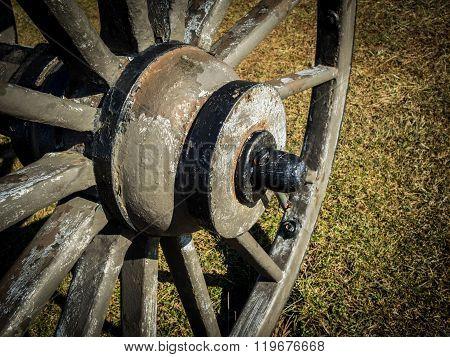 Civil War Cannon Wheel