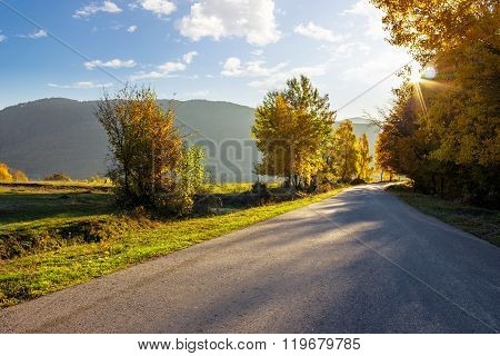 Road Going To Mountains