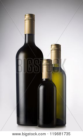 Different Wine Bottles With Pilfers
