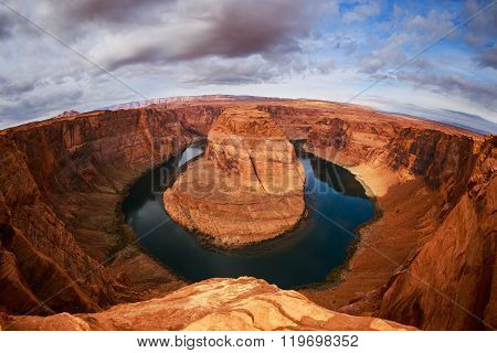 Fisheye view on Horseshoe Bend
