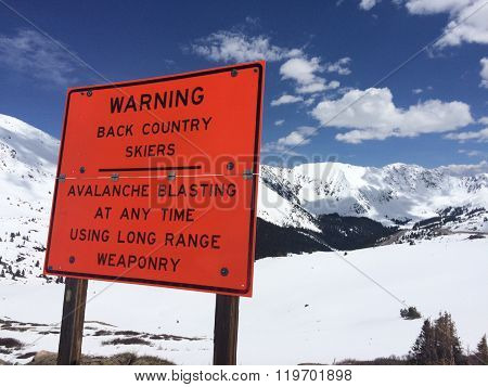 Backcountry Winter Warning
