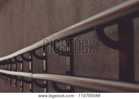 Iron handrail, finial detail