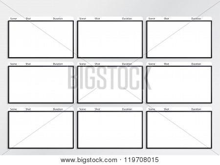 Hdtv Storyboard Template 9 Frame